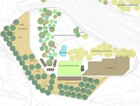 Design proposal for rural education centre and landscape.